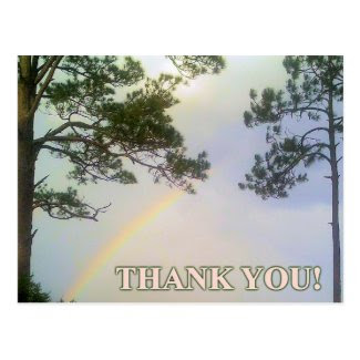 Rainbow of Gratitude Post Card