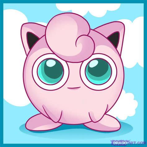draw jigglypuff step  step pokemon characters