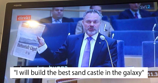 Swedish TV Accidentally Puts Subtitles From A Kid's Show Over A Political Debate, And It's Brilliant