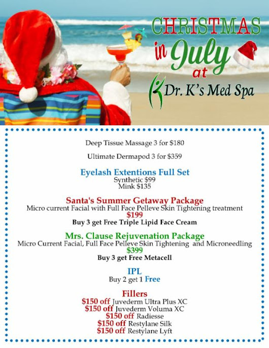 Its Christmas In July At Dr. K's Med Spa!