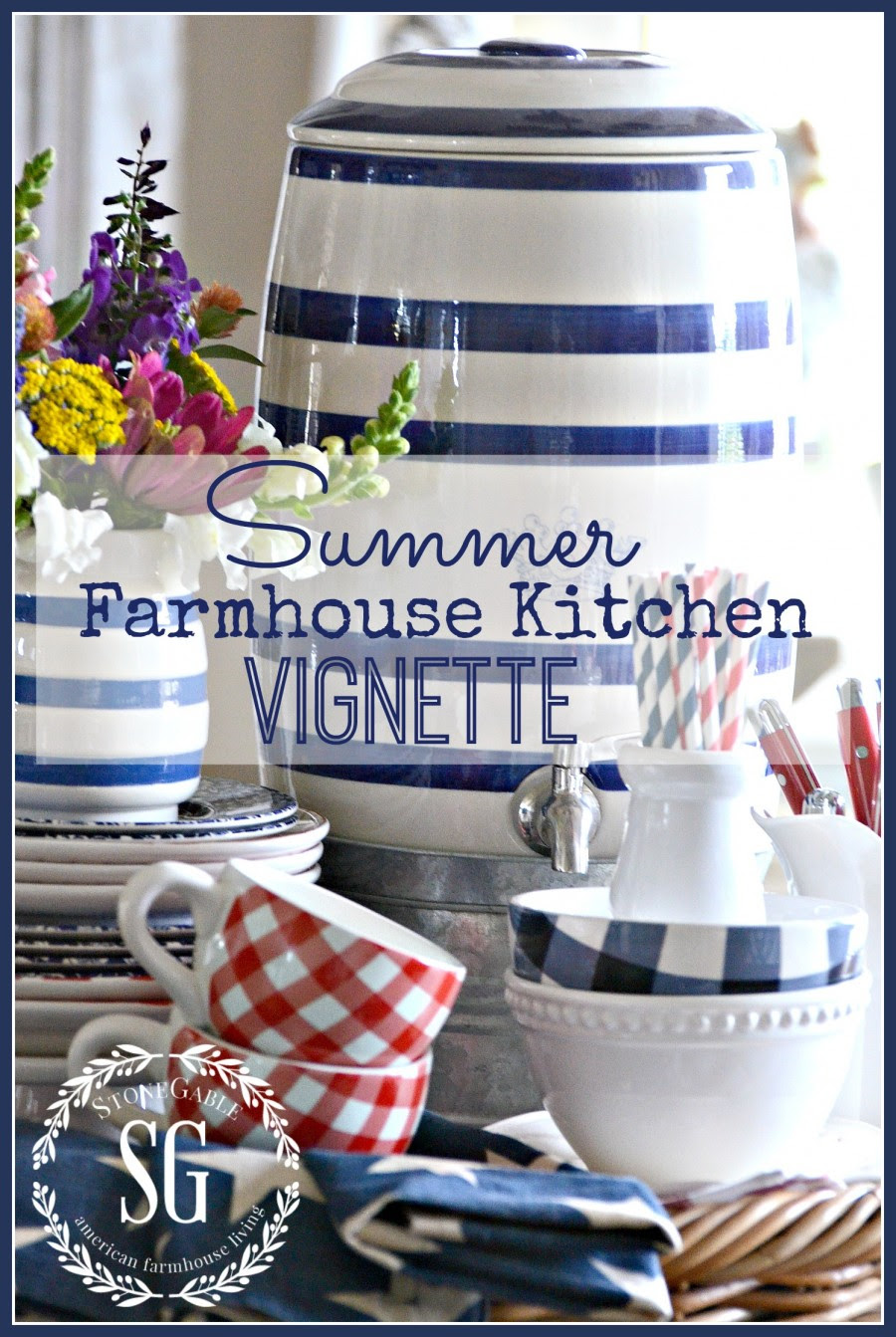 5 EASY TIPS FOR CREATING A SUMMERY KITCHEN VIGNETTE ...