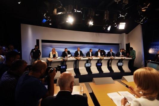 Debate πολιτικών αρχηγών - Θρίλερ με τηλεφώνημα για βόμβα στην ΕΡΤ!