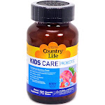 Country Life Kids Care Probiotic - 90 Chewable Wafers