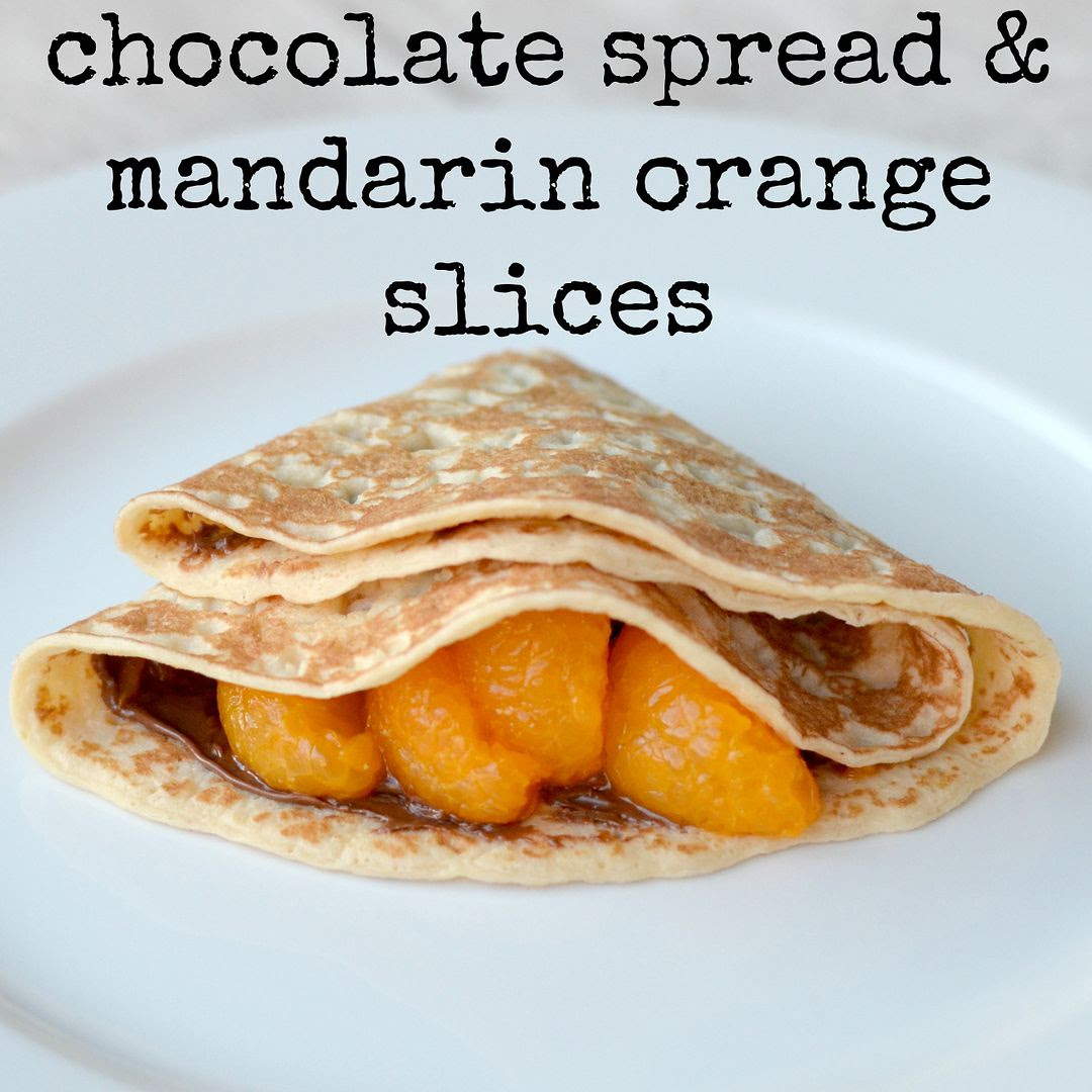 Chocolate orange pancake