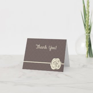 Vintage Thank You Note Card