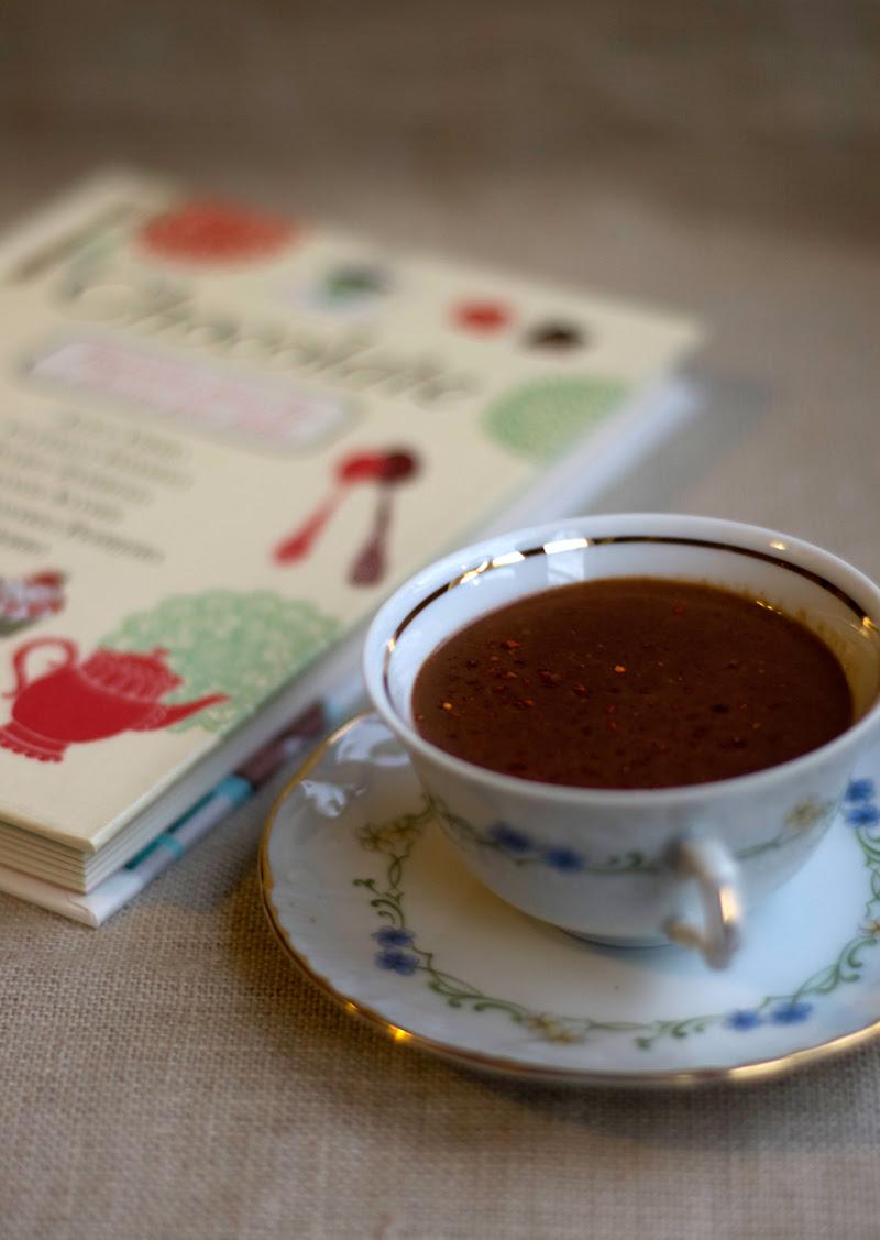 Chocolate quente com pimenta d'Espelette