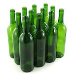 Green Wine Bottles, 750 ml Capacity (Pack of 12)