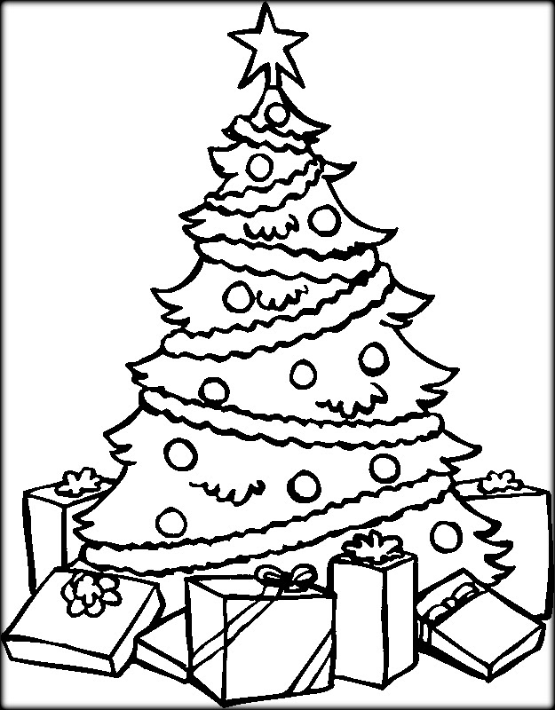 Christmas Tree Coloring Pages For Adults at GetColorings ...
