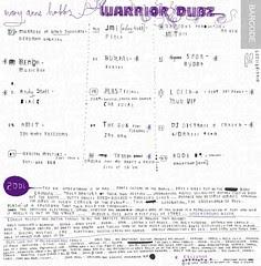 Warror Dubz credits