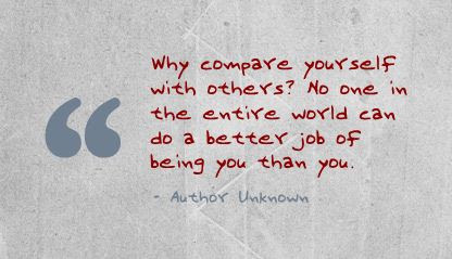 Why Compare Yourself With Others Confidence Quote Quotespicturescom