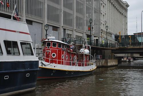 little red tug boat