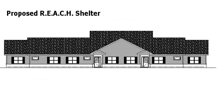 Front view of Proposed REACH Shelter
