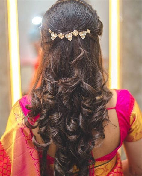 Hair do for Indian Dressing style   Ladies   Hair styles