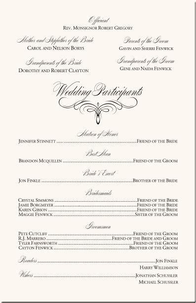 Flourish Mongram Catholic Mass Wedding Ceremony Catholic