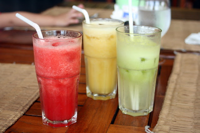 Wash it all down with freshly squeezed juices