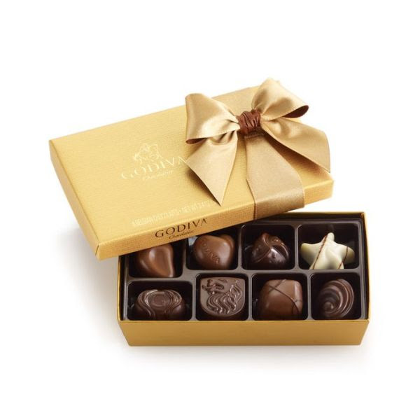 Godiva 8 Piece Gold Ballotin Assortment