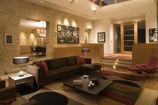 Living Room With High Ceiling Home Lighting Ideas With Foyer