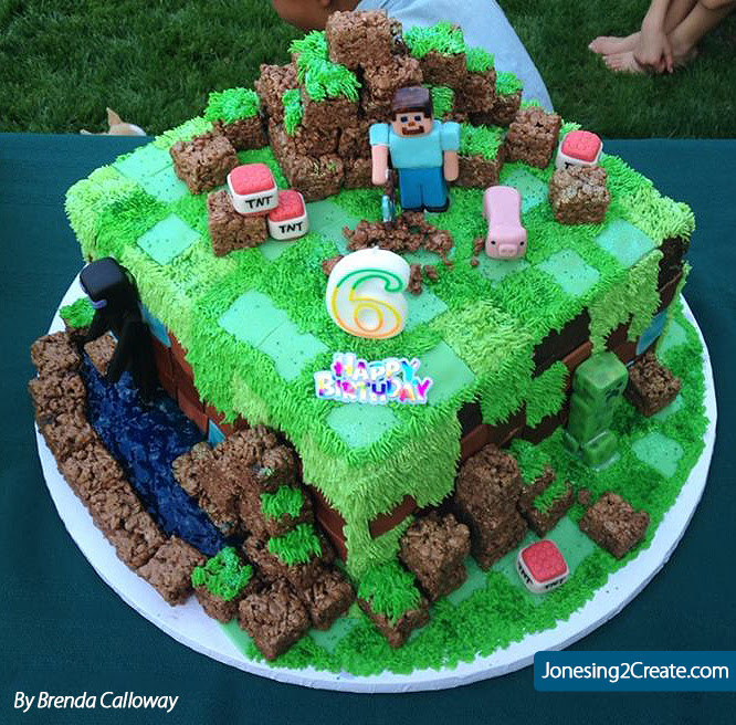 Excellent Images Minecraft Birthday Cakes 2015 House Style Pictures Funny Birthday Cards Online Alyptdamsfinfo