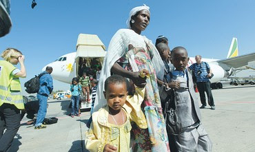 Ethiopian Jews arrive in Israel