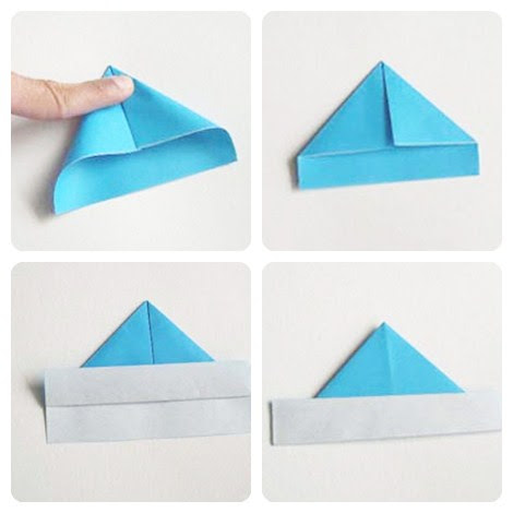 Barco de papel papiroflexia