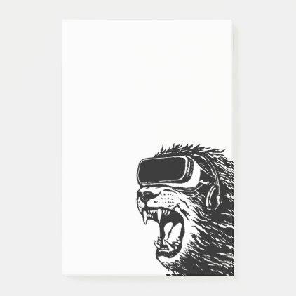 VR Lion Post-it Notes