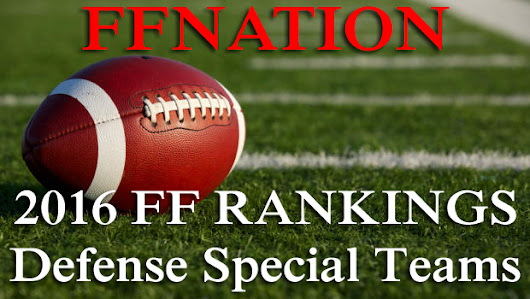2016 Fantasy Football Rankings – DST - FF Nation