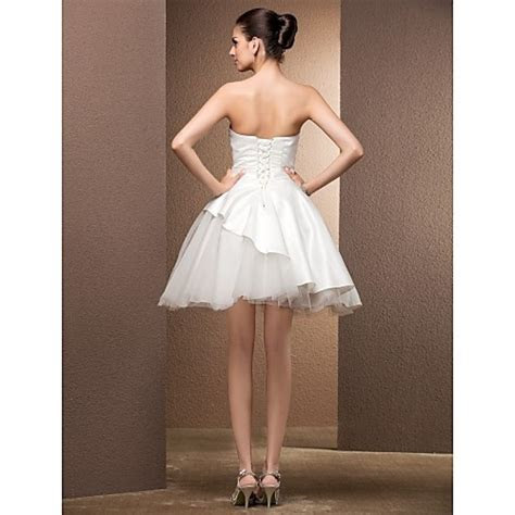 Ball Gown Plus Sizes Wedding Dress   Ivory Knee length