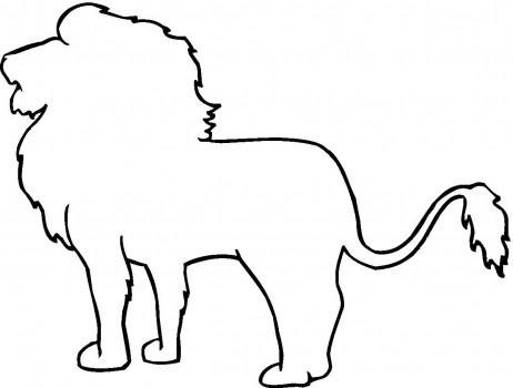 lion outline coloring page  super coloring  clipart best  clipart best