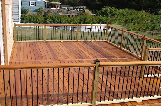 Garapa Hardwood Deck Adds Outdoor Living Space and Value to Home