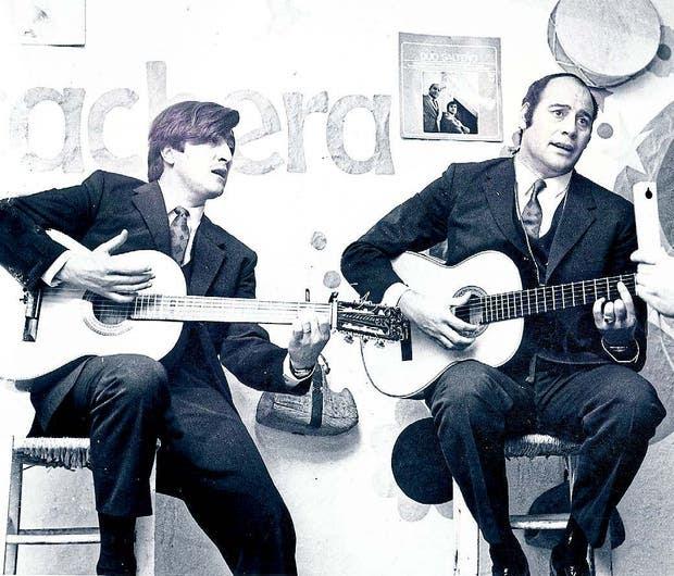 Patricio Jiménez y Chacho Echenique, a fines de los 60, en los días de su primer disco