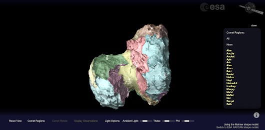 New: Interactive viewer for comet 67P/C-G