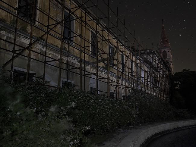Silence is deafening ... the mental asylum at night on Poveglia Island. Picture: Ella Pel