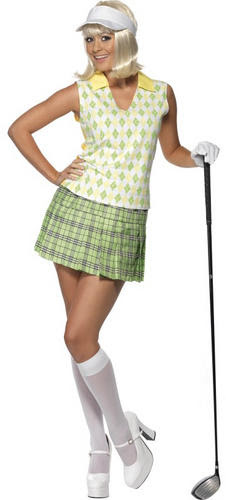 golfing golfer sports costume mens ladies pub golf uniform