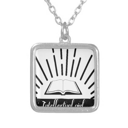 Intellectual Girl Funny Nerd Slogan Print Silver Plated Necklace