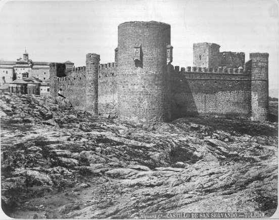 Castillo de San Servando en el siglo XIX. Fotografía de Casiano Alguacil