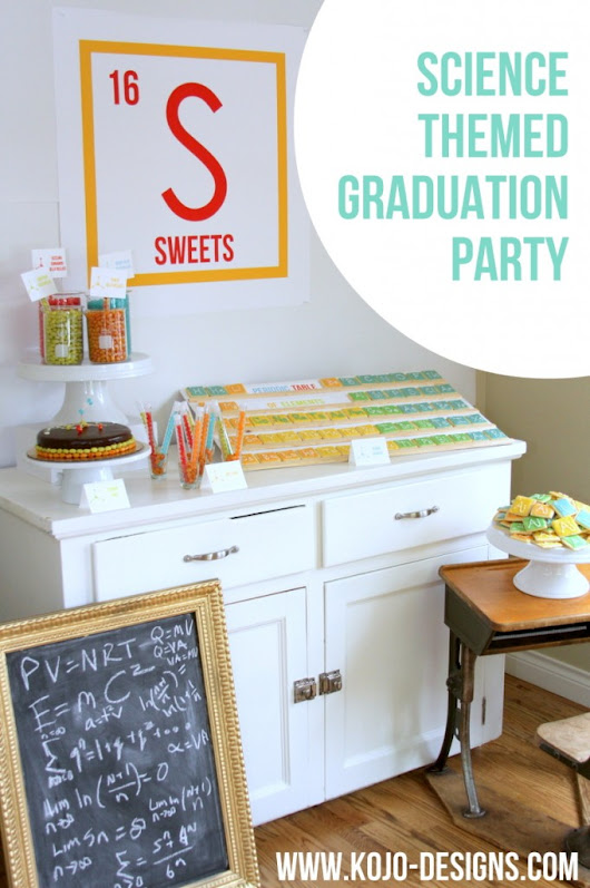 an extra science-y graduation party