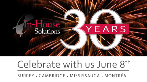 Celebrate our 30th on June 8th at an office near you | In-House Solutions
