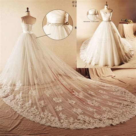 wedding dress detachable train   Real Photo Luxury Ball