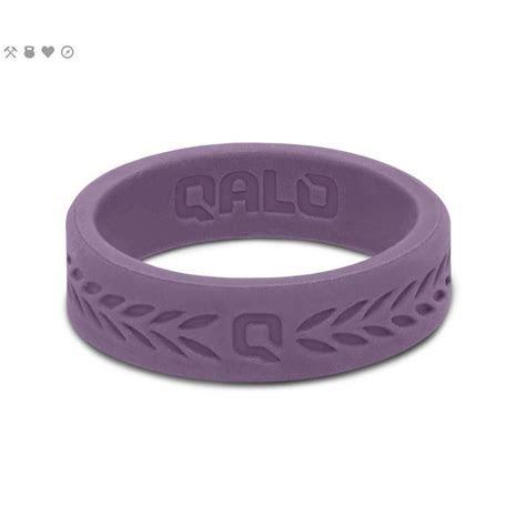 QALO Women?s Lilac Laurel Q2X Silicone Wedding Ring QS
