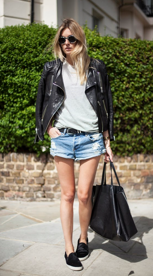 LE FASHION BLOG STREET STYLE TWO WAYS LEATHER MOTO JACKET DISTRESSED DENIM SHORTS JEAN CUT OFF SHORTS SLIP ON BLACK SNEAKERS CELINE INSPIRED CALF HAIR SNEAKERS LEATHER TOTE BAG SHOPPER TORT SUNGLASSES SUBTLE STRIPE TOP TEE CAMILLE OVER THE RAINBOW BLOGGER STYLE LAID BACK CASUAL TRANSITIONAL SUMMER TO FALL LOOK GET THE LOOK EFFORTLESS BLONDE WAVES WAVY HAIR 1 photo LEFASHIONBLOGSTREETSTYLETWOWAYSMOTOJACKETDISTRESSEDDENIMSHORTSSNEAKERSCAMILLE1.png