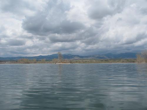 cloudy canoe day