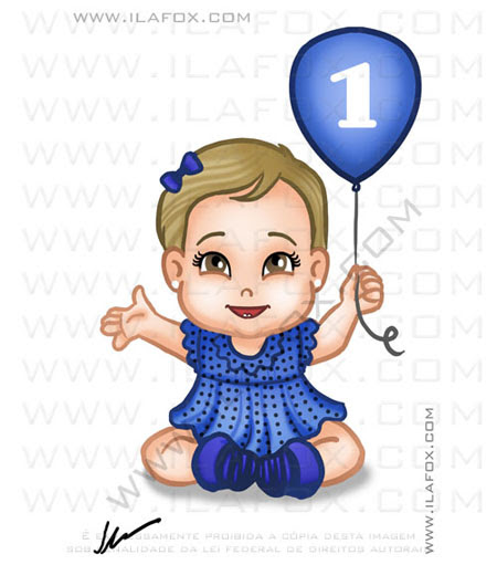 Desenho infantil, desenho menina balão, by ila fox