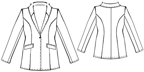 jacket  shawl collar sewing pattern