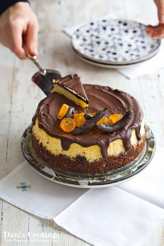 Orange Cheesecake with Chocolate Glaze | Dani's Cookings