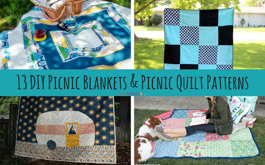 13 DIY Picnic Blankets and Picnic Quilt Patterns - Seams And Scissors