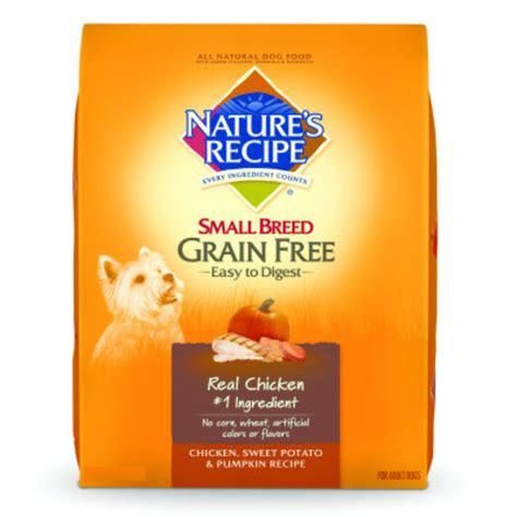 natures recipea small breed grain  adult dog food