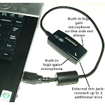 SP-USB-MIC-MODEL-5 - Sound Professionals Super High Gain Stereo USB H