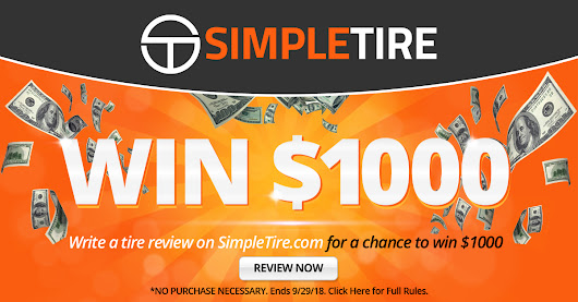$1000 Simple Tire Giveaway - Giveaway Monkey