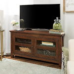 Copper Grove Bow Valley 44-inch Traditional Brown Corner TV Stand