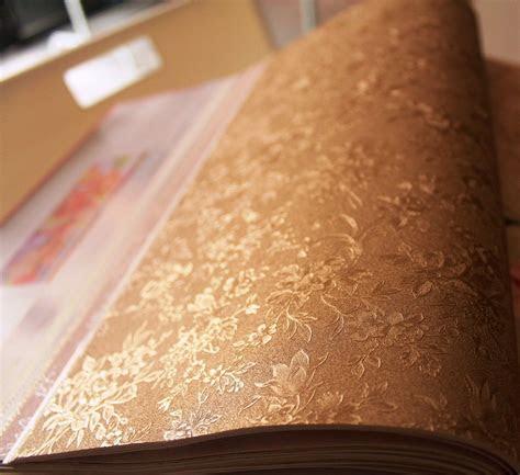 jual wallpaper bunga kecil emas gold tekstur flower